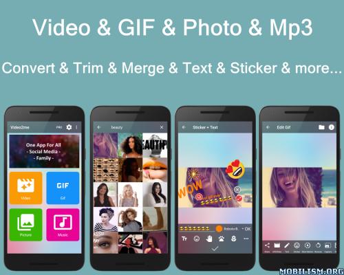 Video2me: Video Editor, Gif Maker, Screen Recorder v1.6.2 [Pro] Proper