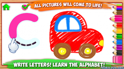 ABC DRAW! Alphabet games Preschool! Kids DRAWING 2 v1.0.8 [Unlocked] f