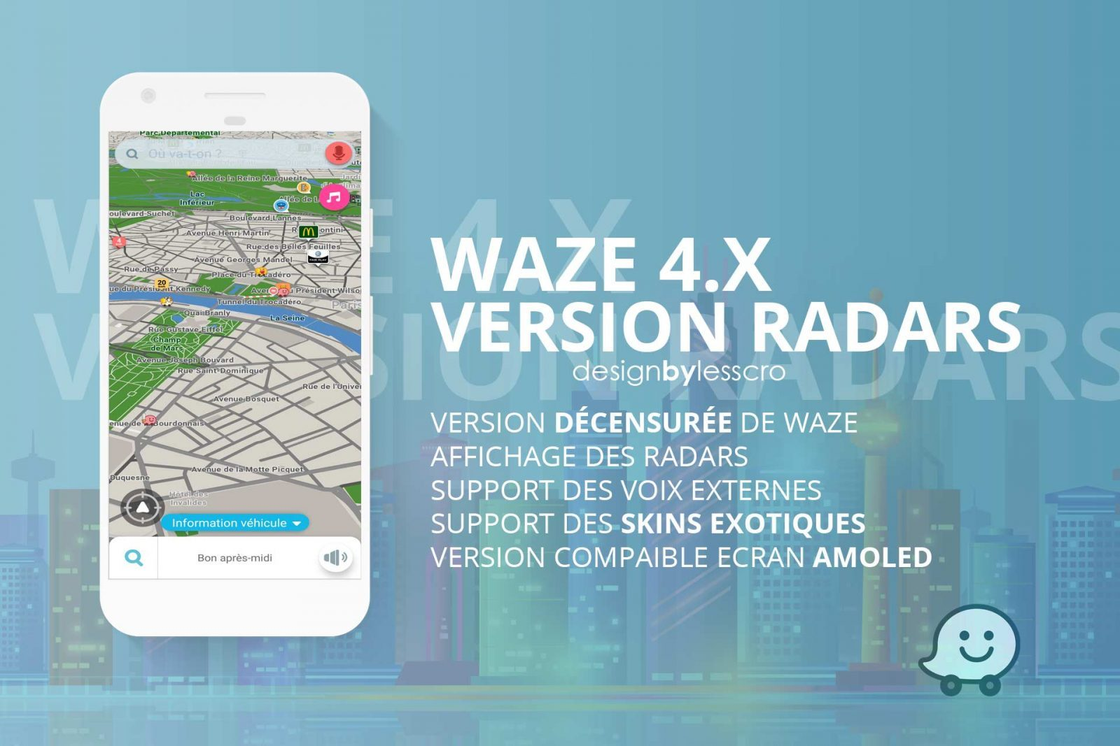 Waze Radar - Navigation temps réel - Android & iPhone