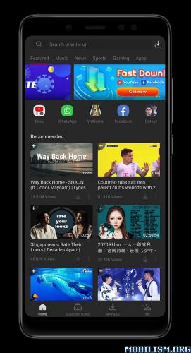 dmYD89MHK5 - VidMate - HD Video & Music Downloader v4.4761 [Premium] [Mod]