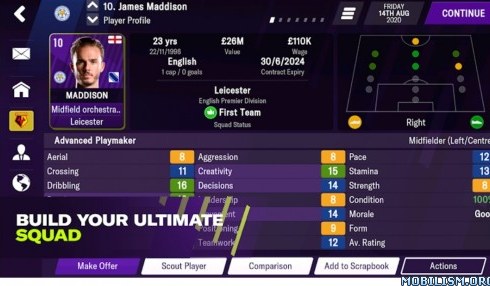 Football Manager 2021 Mobile v12.3.0 [Paid Patched]